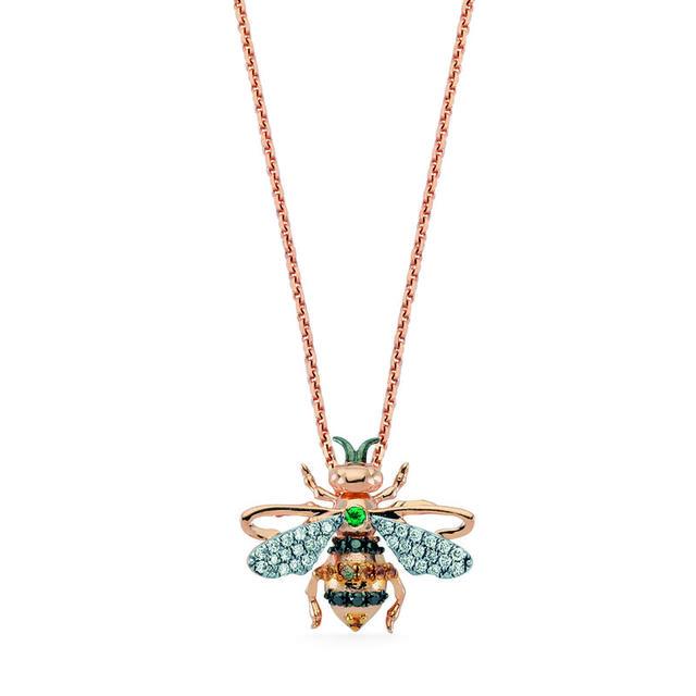 Swoonery-Queen Honey Bee Pendant