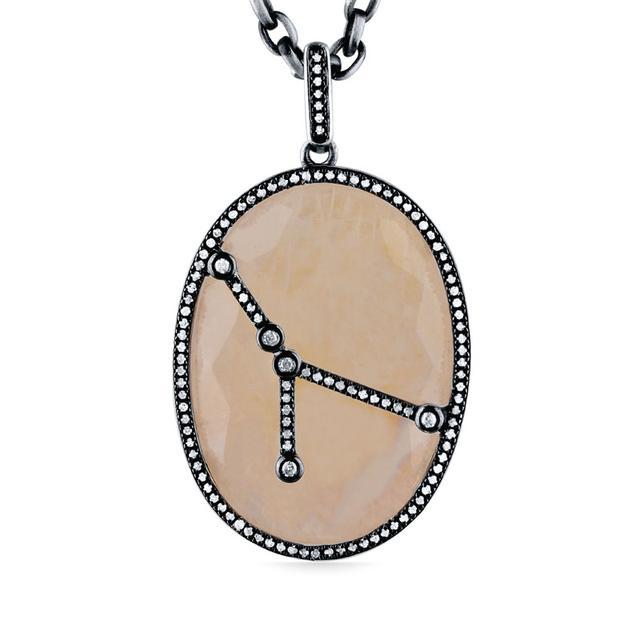 Swoonery-Moonstone Constellation Pendant