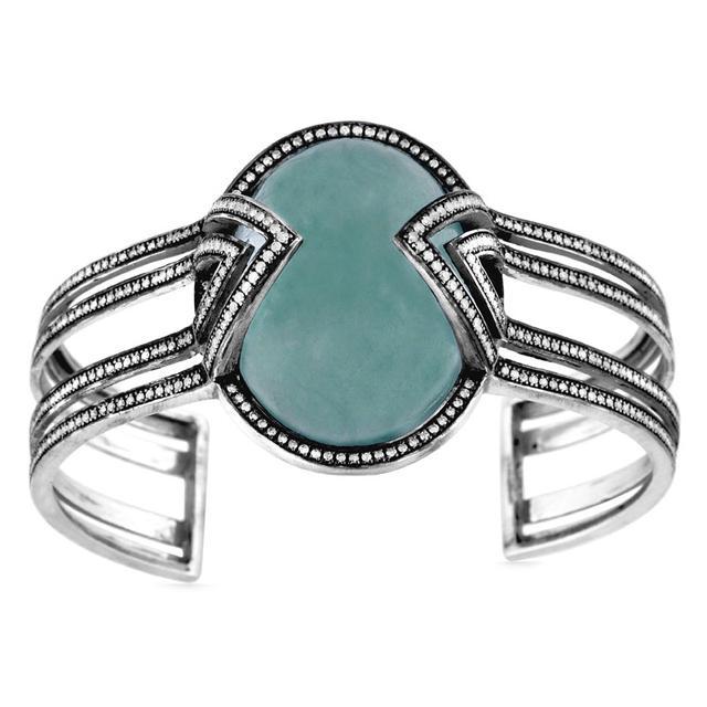 Swoonery-Aquamarine Air Bracelet