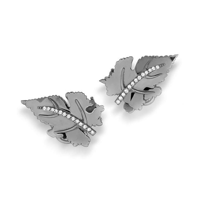 Swoonery-Vine Mini earrings - Black Rhodium
