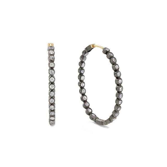 Swoonery-Small Diamond Hoops