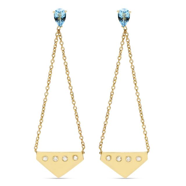 Swoonery-Gotham Earrings Double Chain Empire
