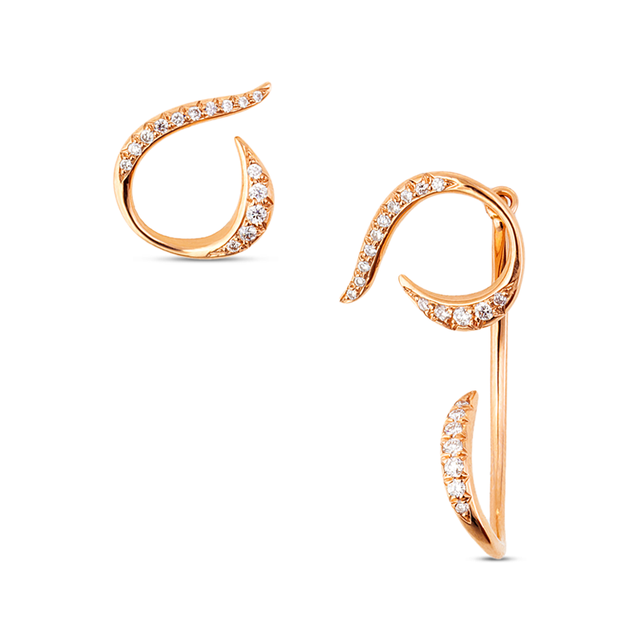Swoonery-Rose Gold Serpentine Sleeps Stud & Jacket