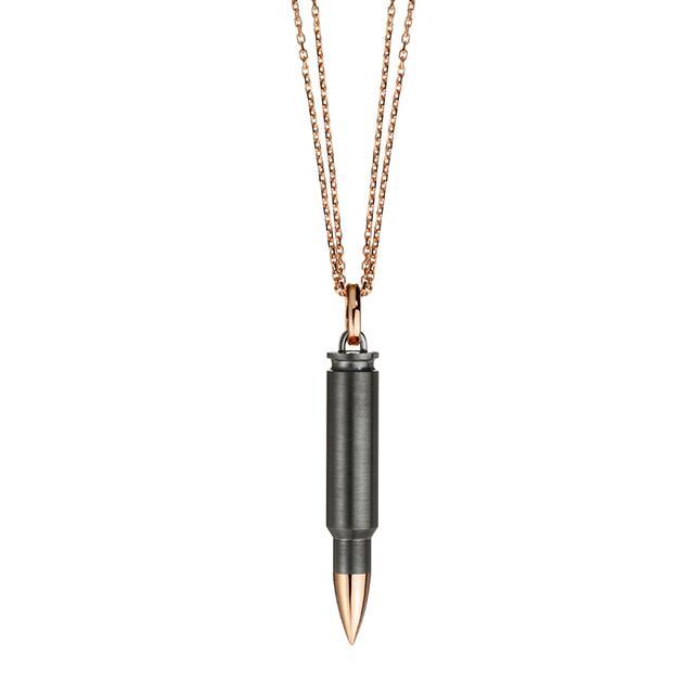 Swoonery-Titanium and Rose Gold AK Pendant