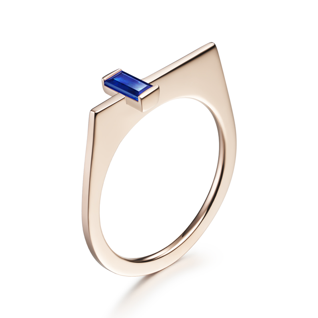 Swoonery-Athena Sapphire Ring