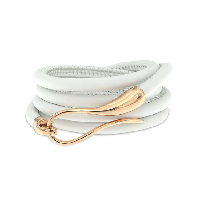 Swoonery-Rose Gold Elika Leather Bracelet