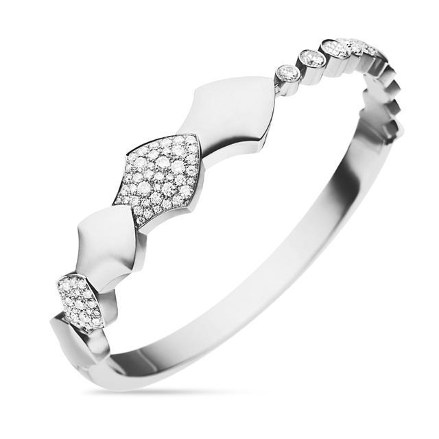 Swoonery-White Gold Python Bracelet
