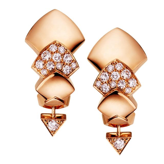 Swoonery-Rose Gold Python Earrings
