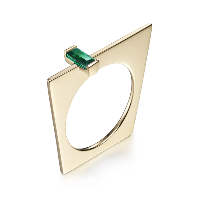 Swoonery-Galana Emerald Ring