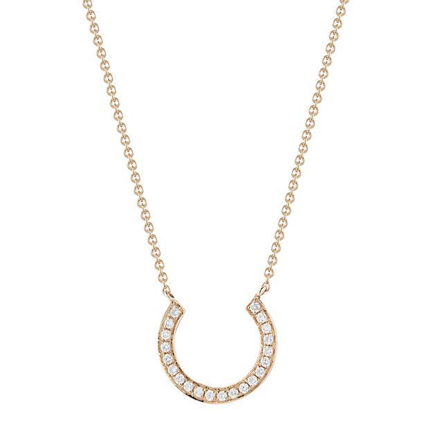 Swoonery-Horseshoe Diamond Necklace