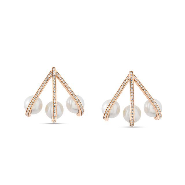 Swoonery-Hanging Pearl Earrings