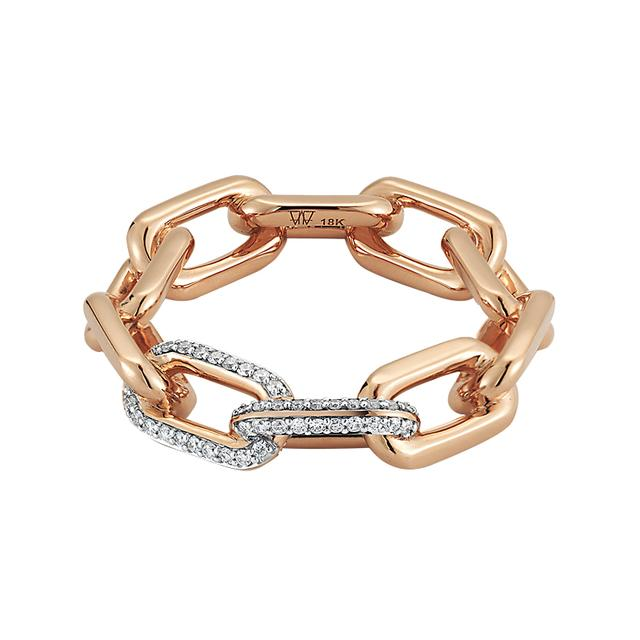 Swoonery-Rose Gold Large Chain Link Ring