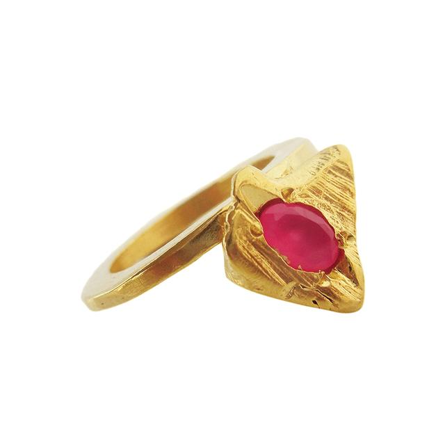 Swoonery-Fuchsia Arrow Ring