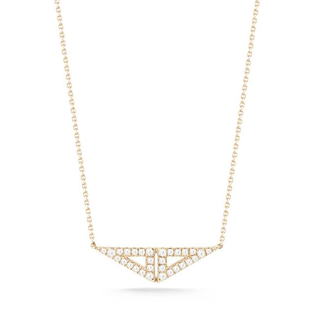 Swoonery-Aria Selene Yellow Gold Necklace