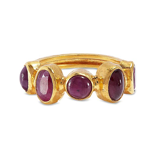 Swoonery-Ruby Anulet Ring