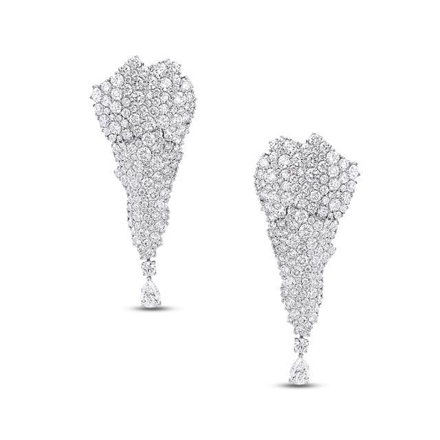 Swoonery-Legends Of Africa Earrings In All Diamonds