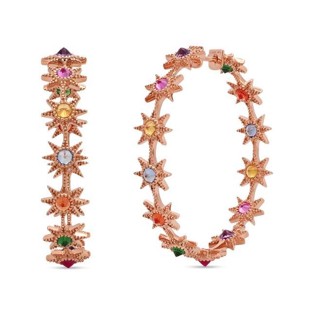 Swoonery-Multicolor Hoop Earrings