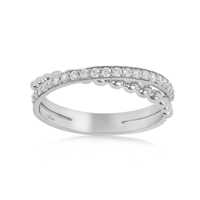 Swoonery-Thin White Gold Bubbles Ring