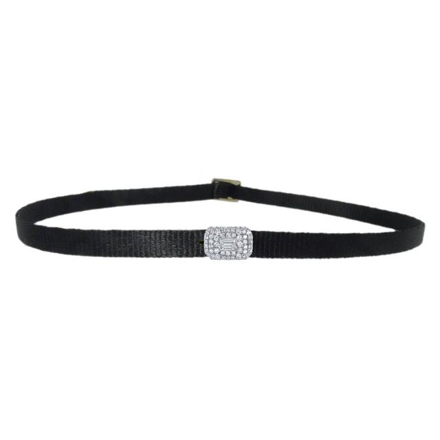 Swoonery-Pave Baguette Diamond Choker