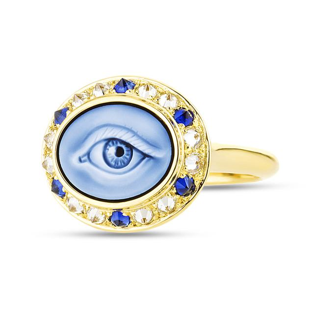 Swoonery-Eye Love Mini Ring