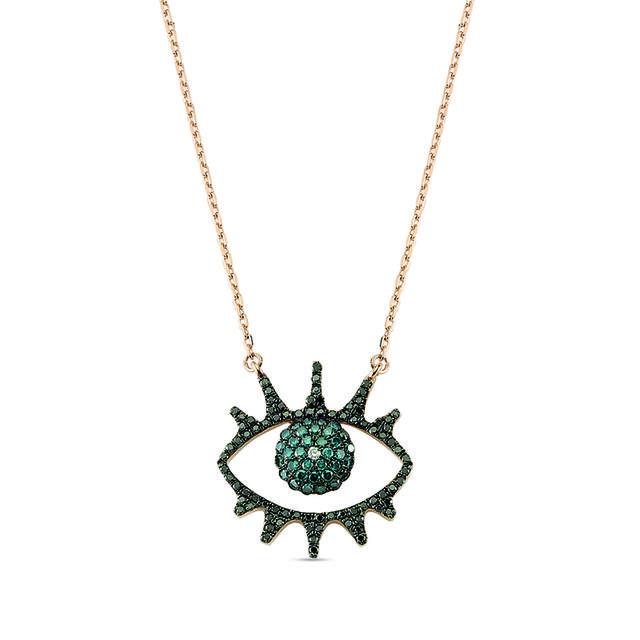 Swoonery-Eye Light Necklace