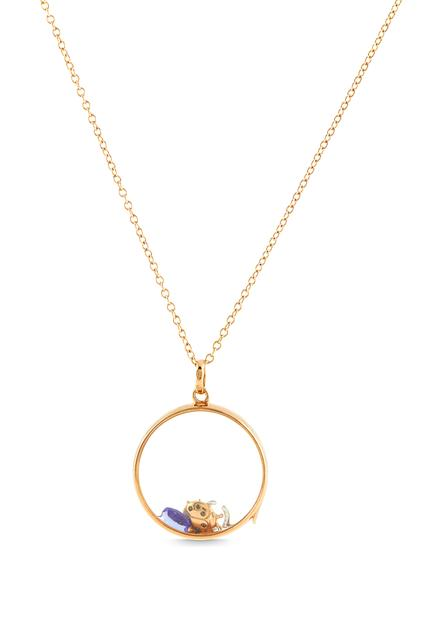 Swoonery-Large Round Rose Gold Loquet