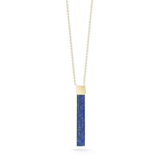 Swoonery-Lapis Bar Necklace