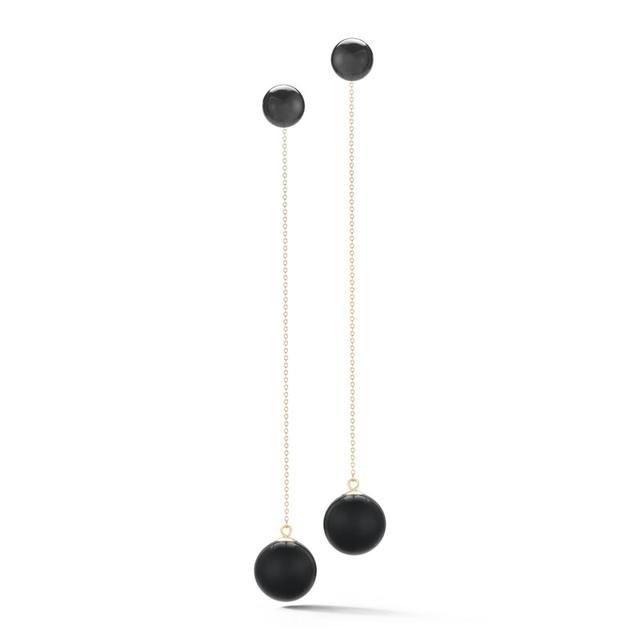 Swoonery-Onyx Ball Drop Earring