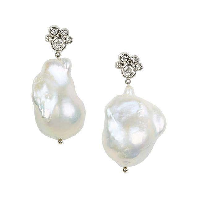 Swoonery-Bubble Pearl Earrings