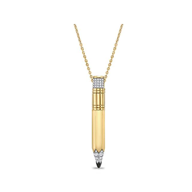 Swoonery-Large Drop Pencil Expression Necklace