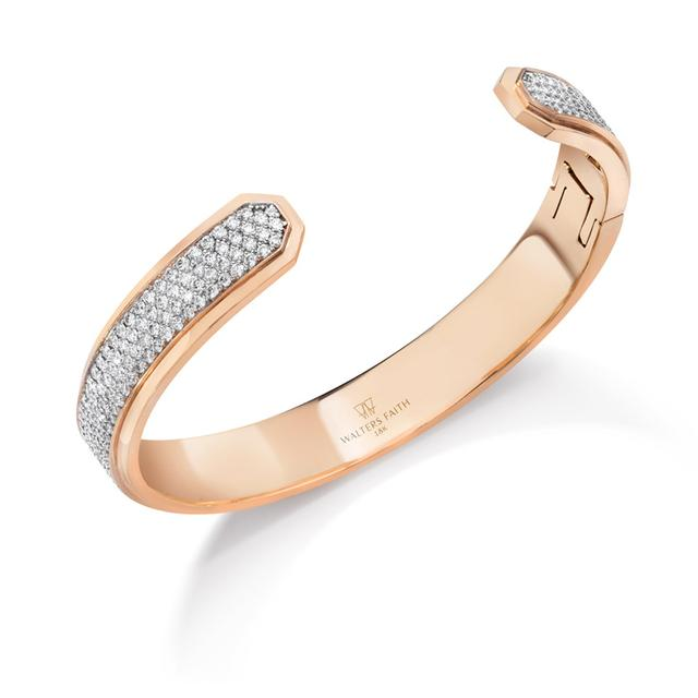 Swoonery-Carrington Diamond ID Cuff