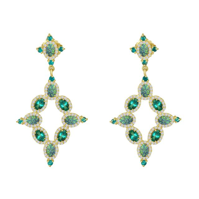 Swoonery-Boulder Topaz Chandelier Earrings