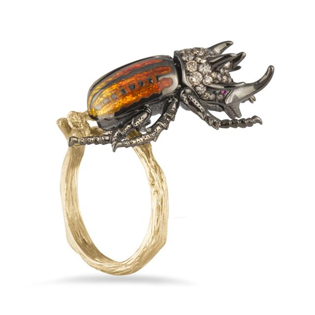 Swoonery-Rhinoceros Beetle Ring