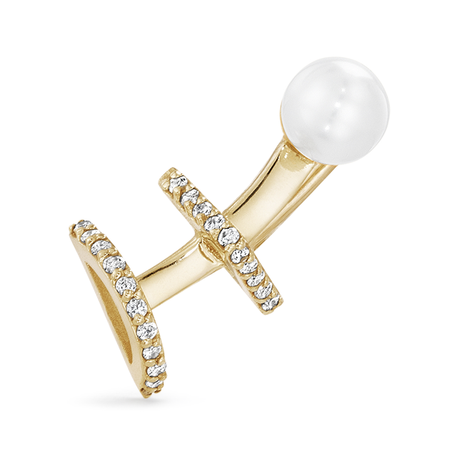 Swoonery-Akoya Pearl Single Ear Climber