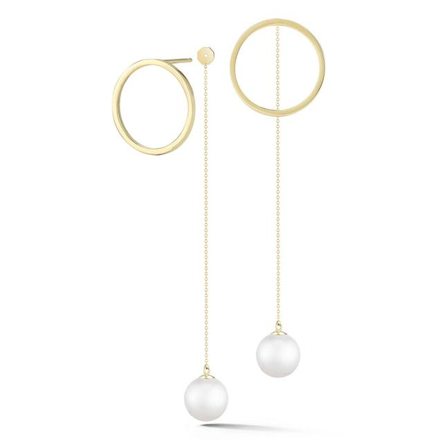 Swoonery-Circle Hoop with Pearl Drop