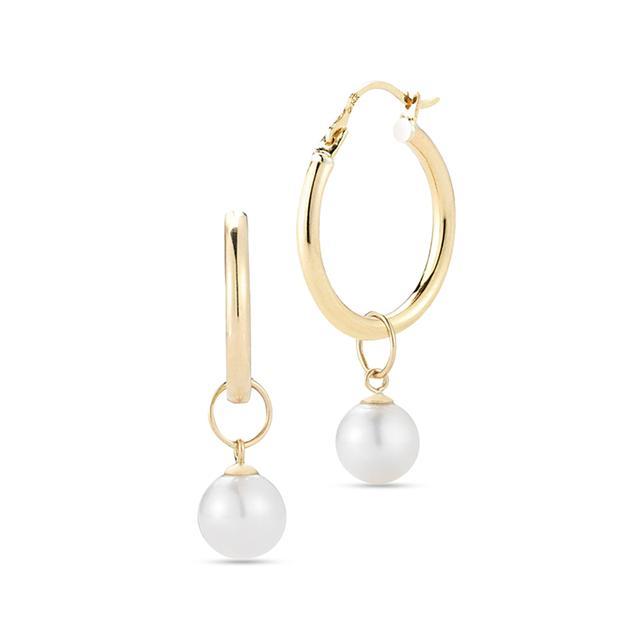 Swoonery-Simple Hoop 1 with Detachable Pearl