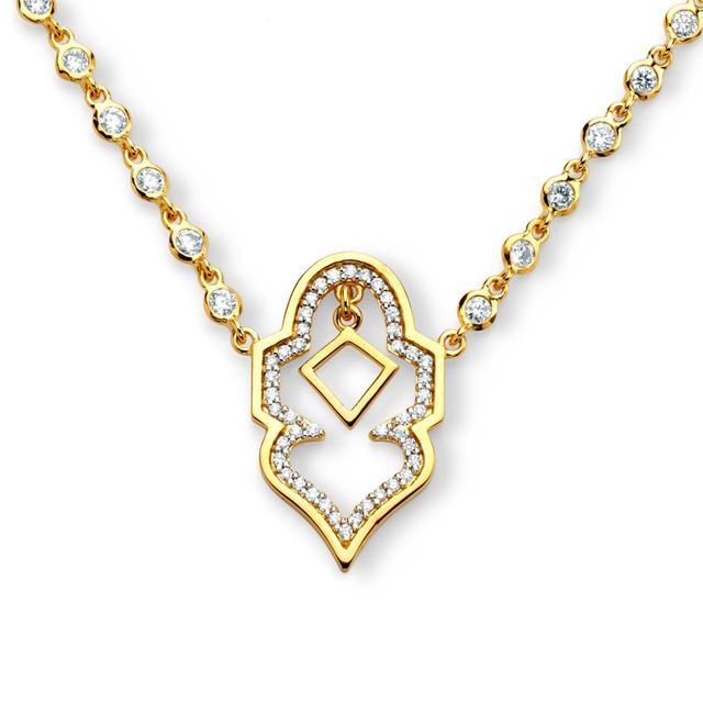 Swoonery-20K Lantern Arch Necklace