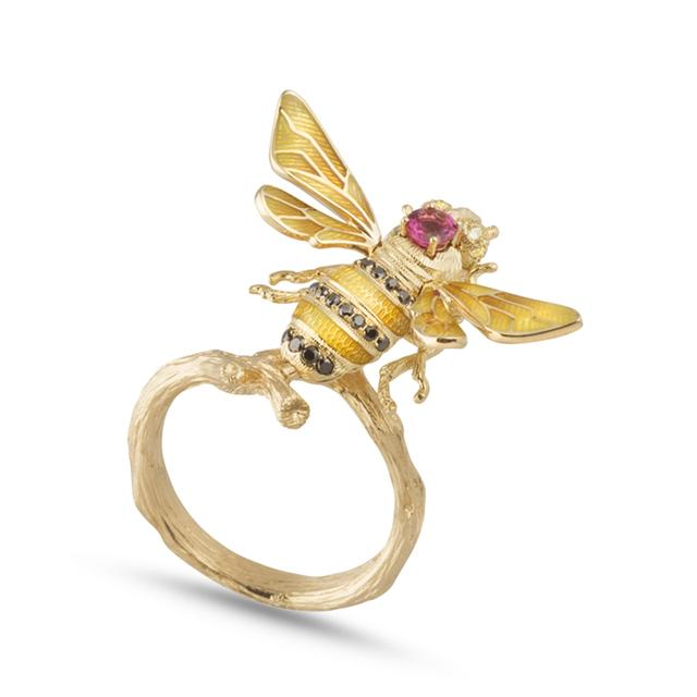 Swoonery-Gold Bee Ring