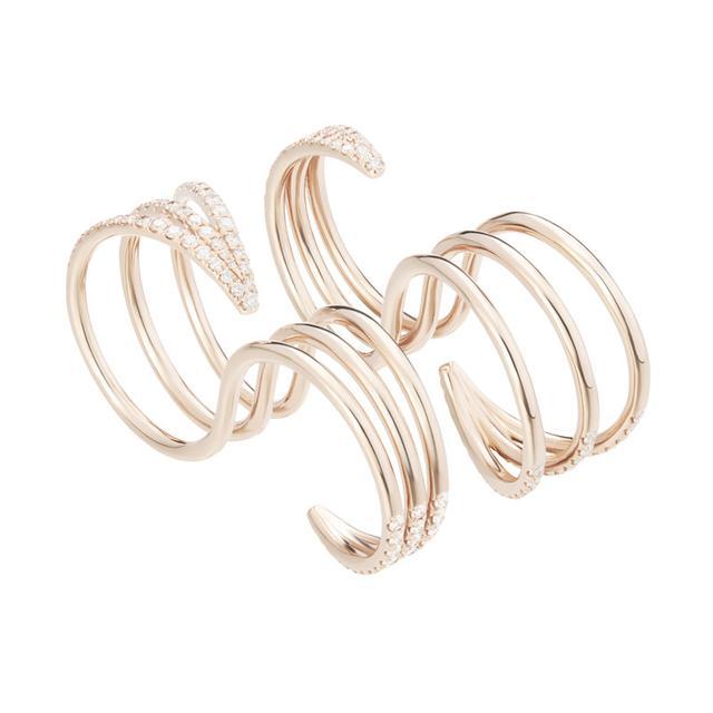 Swoonery-White Diamond Cris Ring