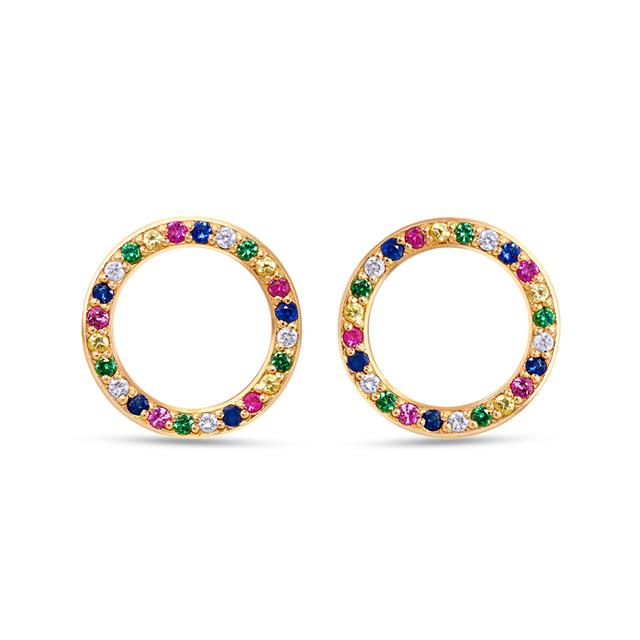 Swoonery-Round Multi-Coloured Studs