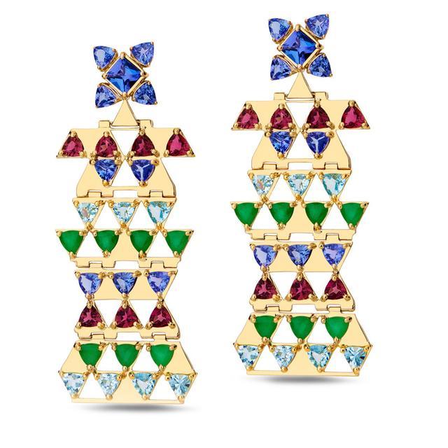 Swoonery-Harlequin earrings M