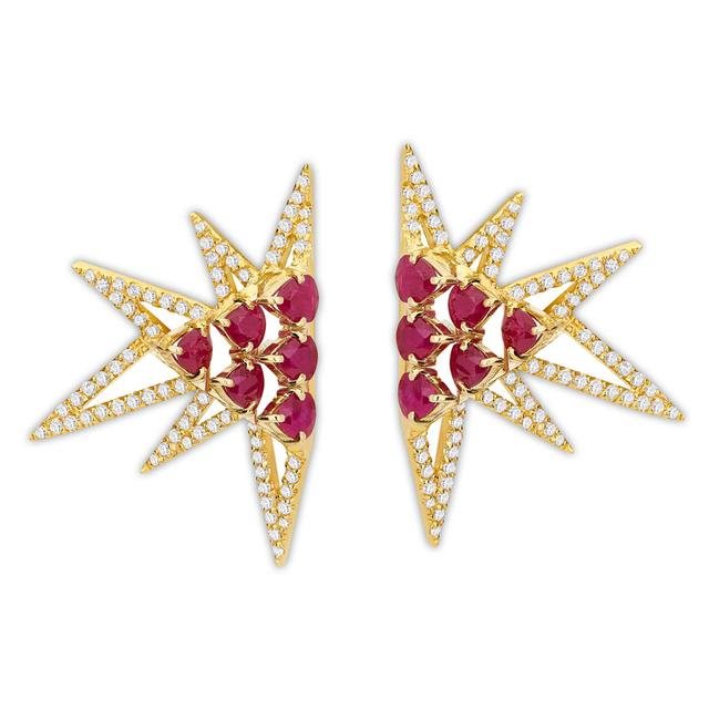 Swoonery-Shine earrings M - Ruby