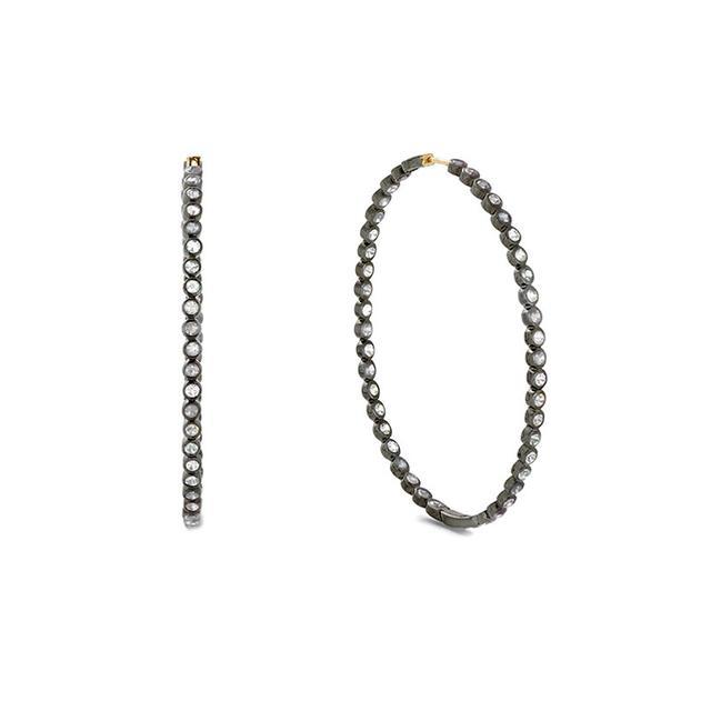Swoonery-Diamond Oval Hoops