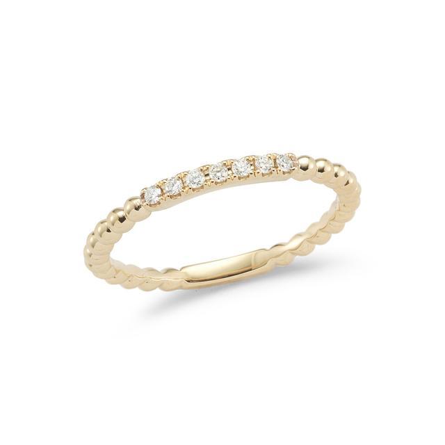 Swoonery-Poppy Rae Pebbled Diamond Ring