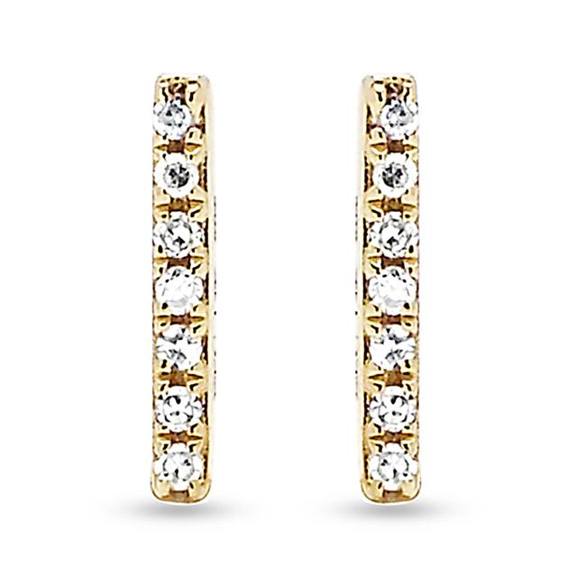 Swoonery-Diamond Bar Studs