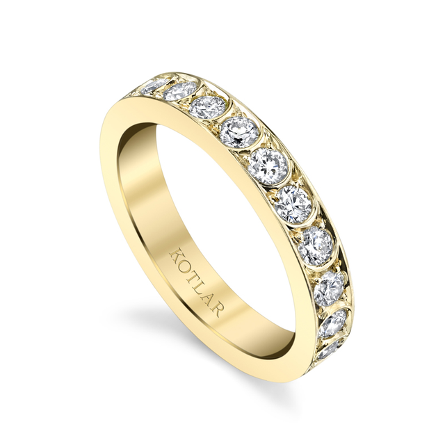 Swoonery-Scallop Artisan Pave Band