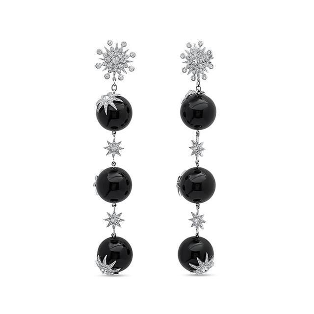 Swoonery-Meteor Star Drop Earrings