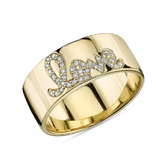 Swoonery-Pave Love Ring