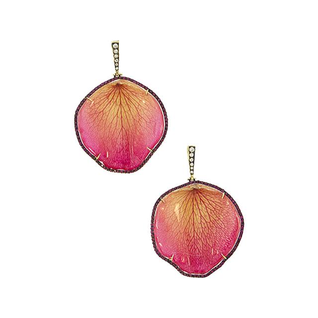 Swoonery-Silvia Furmanovich Rose Petal Earrings