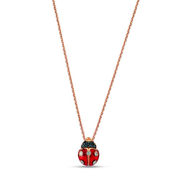 Swoonery-Secret Garden Ladybug Necklace